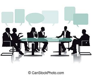 Debate y habla en la oficina