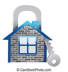 Demostrando la seguridad del hogar