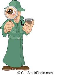 detective, ilustración