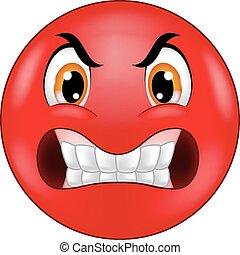 Dibujos animados de emoticonos furiosos