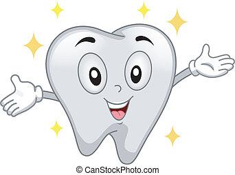 diente, brillante, mascota