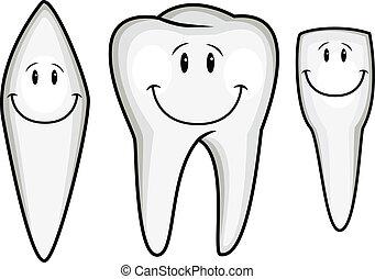 diente, caricatura, colección