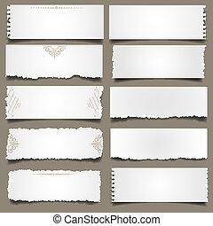 Diez notas de papel
