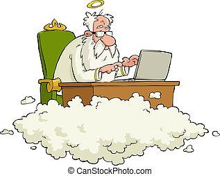 dios, caricatura