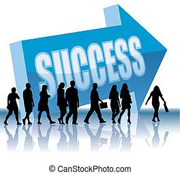 dirección, -, éxito