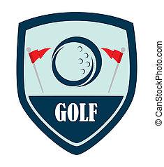 Diseño de logo de golf