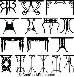 Diseño de muebles de mesa