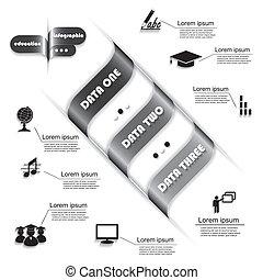 Diseño moderno para el proceso de educación, plantilla fotográfica