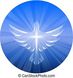 Dove representando el espíritu santo de Dios