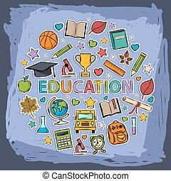 Educación Vector Doodle