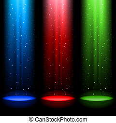 ejes, rgb, tres, luz