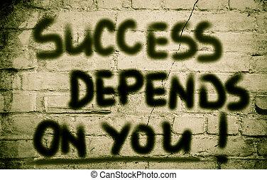 El éxito depende de tu concepto