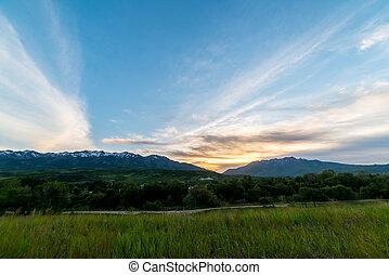 El atardecer de la montaña de Utah 2