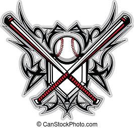El béisbol bate el gráfico tribal