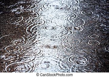 El charco de lluvia