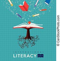 El concepto de árbol de libros de literatura para la educación