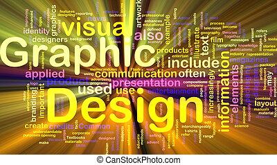El concepto de diseño gráfico brilla