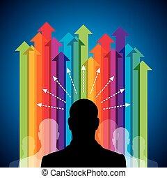El concepto de flecha de negocios