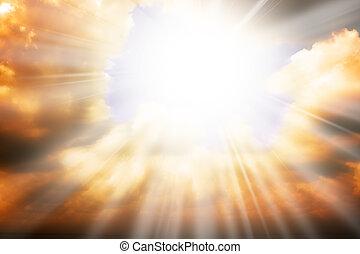 El concepto de la religión del cielo: rayos solares y cielo