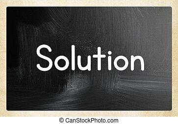 El concepto de solución