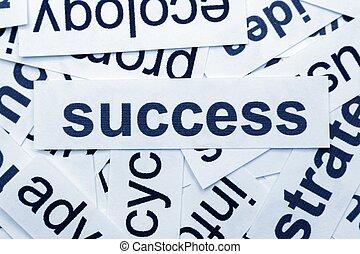 El concepto del éxito
