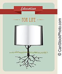 El concepto del libro de educación.