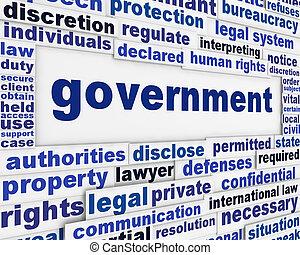 El concepto del póster del gobierno