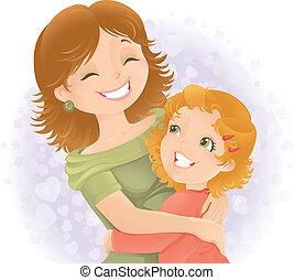El día de las madres ilustraciones de saludo.