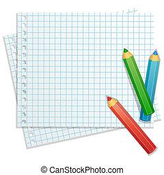 El fondo con lápices de colores