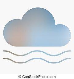 El icono del estilo del clima.