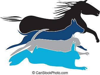 El logo de las mascotas