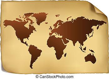 El mapa del mundo es de época.