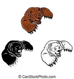 El personaje del oso de color