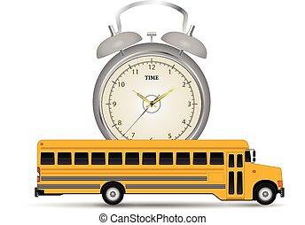 El reloj del autobús escolar