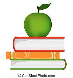 El símbolo de la educación, una pila de libros