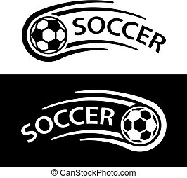 El símbolo de la línea de movimiento de fútbol