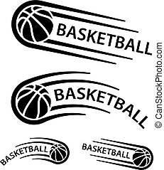 El símbolo de la línea de movimiento de pelota de baloncesto