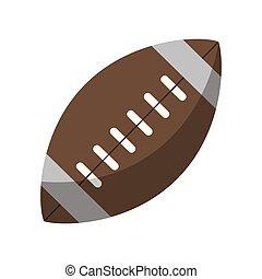 El símbolo de la pelota de fútbol americano