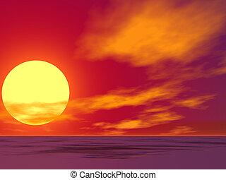 El sol del desierto rojo