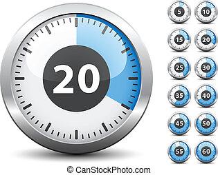 El temporizador del vector cambia fácilmente cada minuto