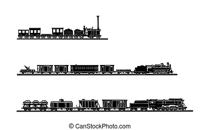 El vector puso el viejo tren en blanco