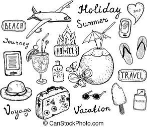 Elementos de viaje listos