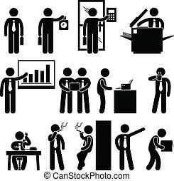 empleado, hombre de negocios, trabajo, empresa / negocio