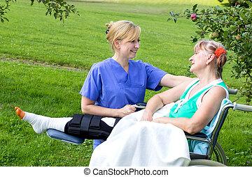 Enfermera con paciente