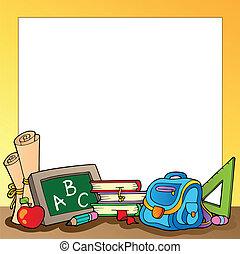 Enmarcar con suministros escolares 1