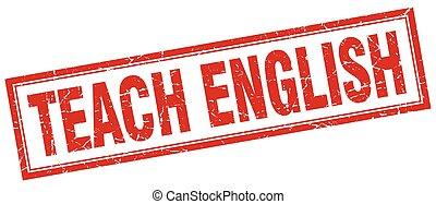 Enseñar sello cuadrado inglés