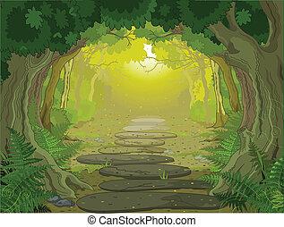 Entrada de paisaje mágico