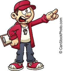 Entrenador de dibujos animados