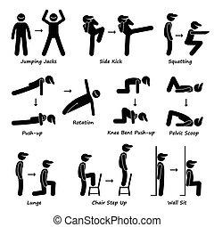 Entrenamiento corporal de ejercicios de ejercicio