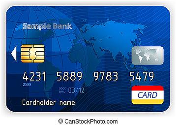 eps, (no, credito, transparency)., frente, 8, tarjetas, vista